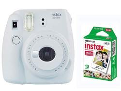 Fujifilm Instax Mini 9 Instant Print Camera in Smokey White