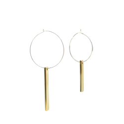 Brass Omikuji - And Silver Lucky Charm Earrings L A Bird Named Frank - A Bird Named Frank