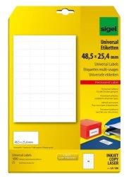 Sigel GmbH Sigel LA106 Universal Labels 1.9 X 1 Inches White 1000 Labels