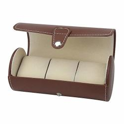 Watch Case Display Box Pu Leather Roll Travel Watch Box Holder Organiser Storage Case 3 Grid For Watches Or Bracelets