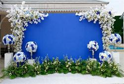 Leyiyi 10X6.5FT Wedding Ceremony Summer Garden Backdrop Romantic Marriage Stage Floral Frame Garland Arch Door Background Tropic