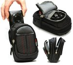 Navitech Black Digital Camera Case Bag For The Canon Ixus 185 Digital Camera