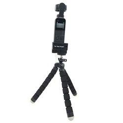 Wenini Tripod Stand Holder For Dji Osmo Pocket Flexible Holder Tripod 1 4 Screw Mount Bracket Gimbal Stand For Dji Osmo Pocket Black