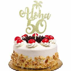 Tremendous Kf Aloha 50 Cake Topper 50Th Birthday Wedding Hawaiin Theme Funny Birthday Cards Online Overcheapnameinfo