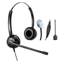 BeeBang Telephone Headset Dual Ear Headphone With Noise Cancelling  Microphone Corded RJ9 Landline Phone Headsets For Cisco Yeali | R1545 00 |  Handheld