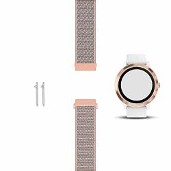 C2D JOY Compatible With Garmin Vivoactive 3 Music And Vivomove Hr Replacement Band With Quick Release Spring Bar Sport Mesh Band Soft Breathable Nylon