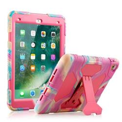 New Ipad 9.7 2018 2017 Case Kidspr Lightweight Shockproof Rugged Cover With Stand Protective Full Body Rugged For Kids For New A