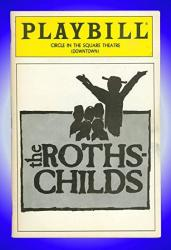 The Rothschilds Off-broadway Playbill + Mike Burstyn Allen Fitzpatrick David Cantor Nick Corley Leslie Ellis Sue Anne Gershenson Hal Goldberg