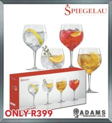 GIN & Tonic Glass Set 4 Piece 630ML Gift Boxed