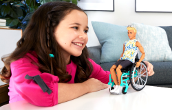 Ken Fashionistas Doll 167 With Wheelchair And Ramp