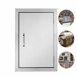 """Rovsun Outdoor Kitchen Door 304 Grade Heavy Duty Bbq Access Door 17""""W X 24""""H Flush Mount Stainless Steel Single Bbq Island Door Perfect For"""