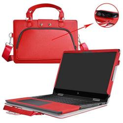 """Pavilion X360 15 Case 2 In 1 Accurately Designed Protective Pu Leather Cover + Portable Carrying Bag For 15.6"""" Hp Pavili"""