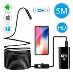Wireless Endoscope Wifi Borescope Inspection Camera 2.0 Megapixels HD Waterproof Snake Camera Pipe Drain With 8 Adjustable LED F