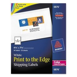 Avery AVE6876 - Shipping Labels For Color Laser Amp Amp Copier