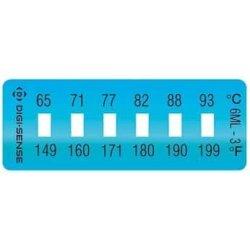 Digi-sense Irreversible 6-POINT Horizontal Temperature Label 149-199F 65-93C 10 PK