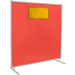 ERB Steiner 384-334-6X6 Protect-o-screen HD Weld-view 16-OUNCE Glass Curtain With Arcview Flame Retardant Yellow Tinted Viewing