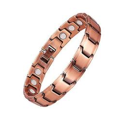 Zsml Pure Copper Magnetic Bracelet Men Women Pain Relief For Arthritis And Carpal Tunnel With Powerful Magnets-and Adjustment To
