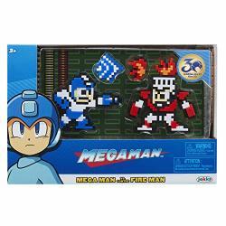 Jakks Megaman Classic 8-BIT Figure 2-PACK Mega Man Vs. Fire Man