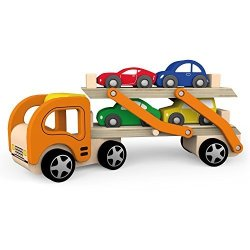 Viga Wood Car Carrier With 4 Cars