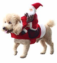 Christmas Dog Costumes.Royal Wise Running Santa Christmas Pet Costumes Santa Dog Costume Dog Apparel Party Dressing Up Clothing For Dogs Cats Clothes P R1425 00 Pet Food