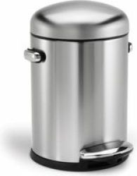 Stingray Simple Human 4.5L Retro Pedal Bin Brushed Stainless Steel