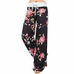 Daopwlkom Gloous Spring Autumn Drawstring Trousers Women American Flag Wide Leg Pants Leggings