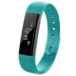 HP95 TM HP95 Bluetooth Smart Watch ID115 Multifunction Sport Smart Watch Bracelet Pedometer Wristband Fitness Tracker Mint Green