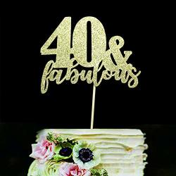 Hero Sweettala 40 Fabulous Cake Topper Gold Glitter For 40th Birthday Wedding Anniversary Party Decorations R590 00 Baking Tools Accessories