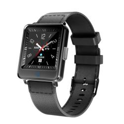 V16 1.2 Inch Ips Dual Screen Smartwatch IP67 Waterproof Nylon Watchband Support Call Reminder heart Rate Monitoring blood Pressure Monitoring sleep Monitoring blood Oxygen Monitoring Black