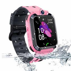 Themoemoe Kids Smartwatch Phone Kids Gps Track Watch Waterproof Smart Watch For Kids 3-14 With Sos Anti-lost Sim Card Smartwatch With Camera Birthday Gift