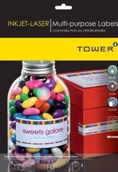 Tower W105 Multi Purpose Inkjet-laser Labels - Box Of 1000 Sheets