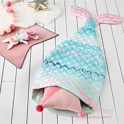 Jmm New Children's Winter Baby Blanket Mermaid Sleeping Bag Leisure Blanket Baby Child