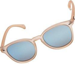 a737428aed Le Specs Women s Bandwagon Sunglasses Raw Sugar ice Blue Revo Mirror One  Size