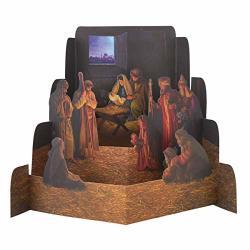 Paper Nativity Set By Greg Olsen Nativity Scene Diorama Christmas Decoration Small