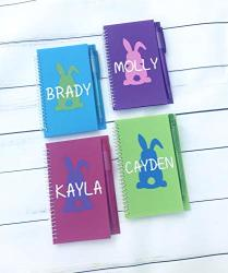 Easter Basket Stuffers For Kids Personalized Bunny Notebook Easter Basket Stuffers For Girls Easter Basket Stuffers For Boys Kids Easter