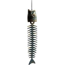 Yardwe 1PC Wind Chimes Retro Fishbone Wind Chime Metal Fishbone Wind Chime Pendants Creative Garden Hanging Decor