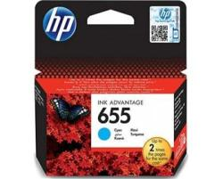 HP 655 Original Cyan Ink Cartridge