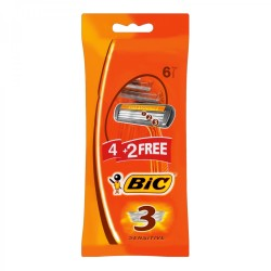 BIC 3 Sensitve Ladies Disposable Razors Pack 6s