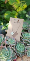 Mila Grey & Brown Necklace & Earrings - Nationwide Shipping Included