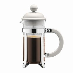 Bodum Caffettiera Coffee Maker French Press With Plastic Lid 3 Cups Of Coffee 0 35 L Cream 1913-913