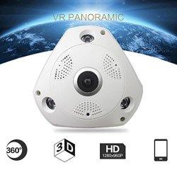 Ikevan Camera 3MP 3D Wifi Wireless Panoramic Ip Camera VR Wireless Camera