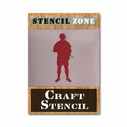 Soldier Army War Airrush Painting Wall Stencil 5