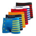 Nylon Stretchable Compression Boxer Brief 6-PCS Set Assorted Colors American Flag One Size