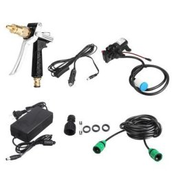 80W 12V High Pressure Car Electric Washer Squirt Sprayer Wash Self-priming Pump Water Cleaner For Au