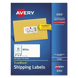 AVE8363 - Averyreg Shipping Labels With Trueblock Technology