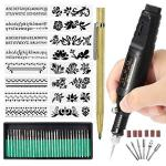Electric Micro Engraver Pen MINI Diy Engraving Tool Kit For Metal Glass Ceramic Plastic Wood Jewelry With Scriber Etcher 30 Bits