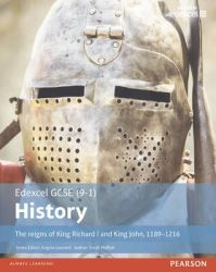 Edexcel Gcse 9-1 History The Reigns Of King Richard I And King John 1189-1216 Student Book Paper