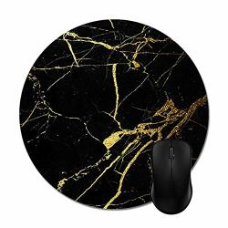 Funice Black And Gold Marble Mouse Pads Trendy Office Computer Accessories