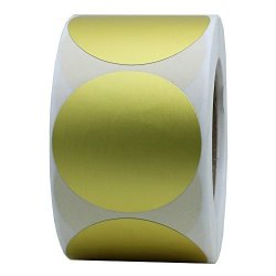 "Hybsk Gold Labels 1.5"" Round Color Coding Dots Stickers Adhesive Label 400 Per Roll 1 Roll"