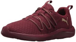 Puma Women's Prowl Alt Knit Mesh Wn Sneaker Cordovan-metallic Gold 9 M Us